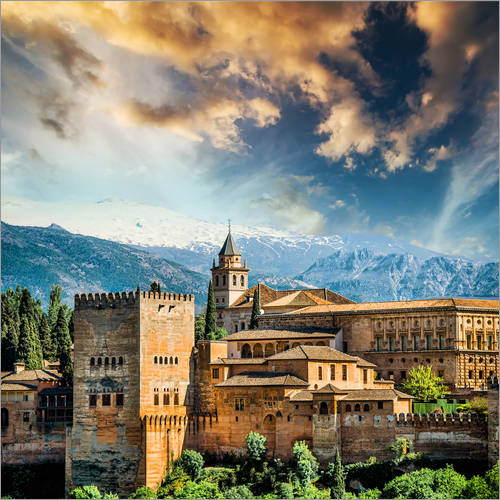 Adesivo murale View of the famous Alhambra