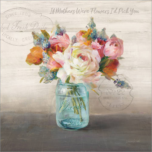Adesivo murale French Cottage Bouquet II