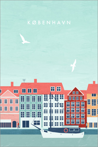 Poster Copenhagen Illustration