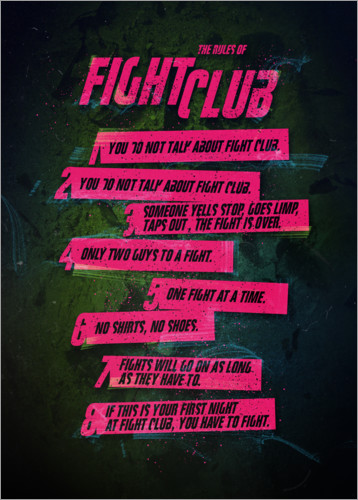 Poster Fight Club Rules