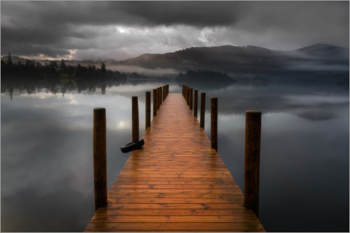 Poster Premium Derwentwater Jetty nel Lake District