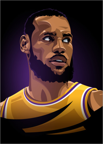 Poster Premium LeBron James