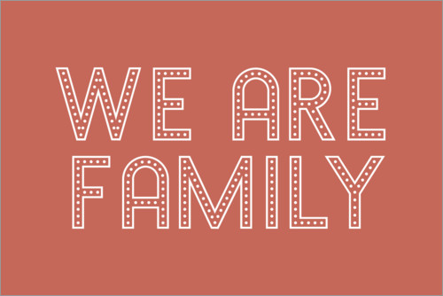 Poster Premium We are family