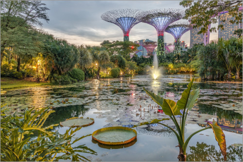 Poster Premium Singapur Gardens by the Bay