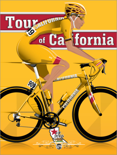 Poster Premium Tour of California Bicycle Race