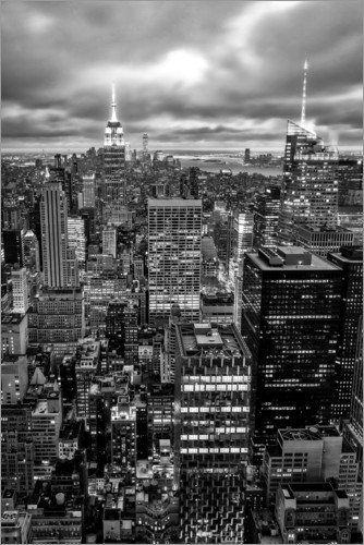 Poster Premium City Lights New York, Stati Uniti