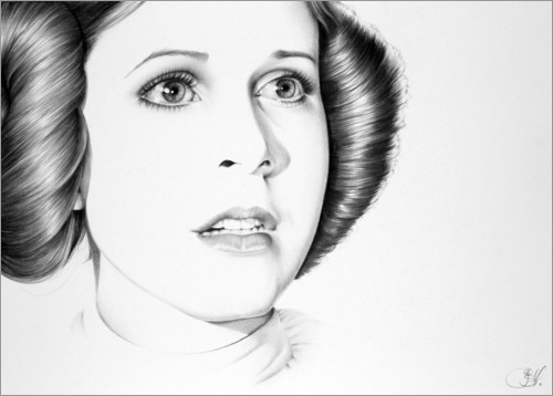 Poster Premium Carrie Fisher
