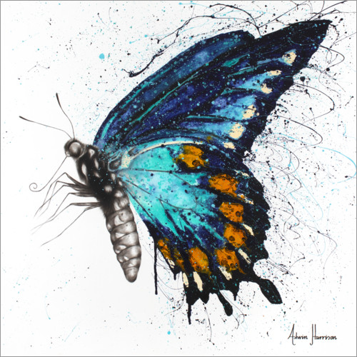 Poster Premium Butterfly Bliss