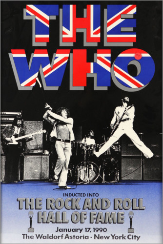 Poster Premium The Who - Hall of Fame