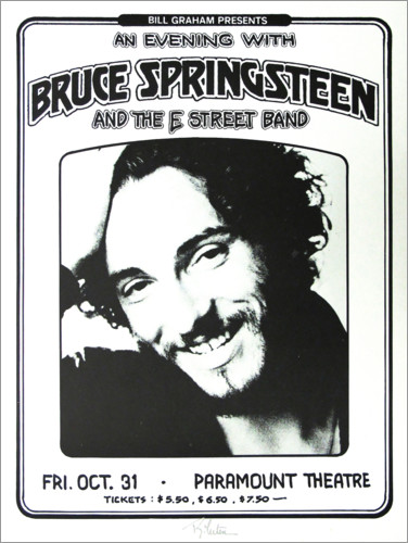 Poster Premium Bruce Springsteen and the E Street Band