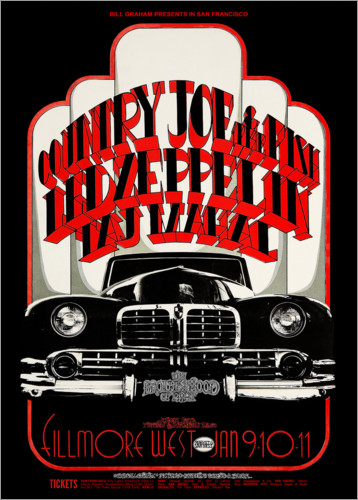 Poster Premium Led Zeppelin & Country Joe And The Fish