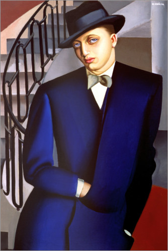 Poster Premium Portrait of the Marquis of Afflito on the staircase 1926