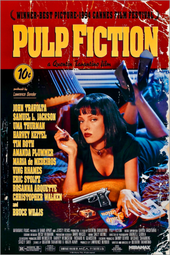 Poster Premium Pulp Fiction (inglese)