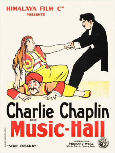 Poster Premium A Night in the Show (Charlot a teatro)