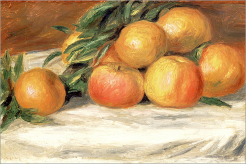 Poster Premium Still Life with Apples and Oranges