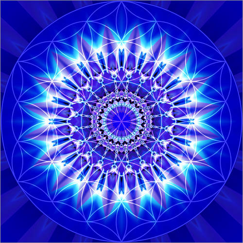 Adesivi murali Spirituality with Mandala Flower of Life