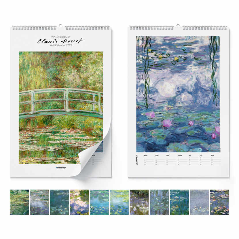 Calendario da muro Claude Monet, Water Lilies 2020