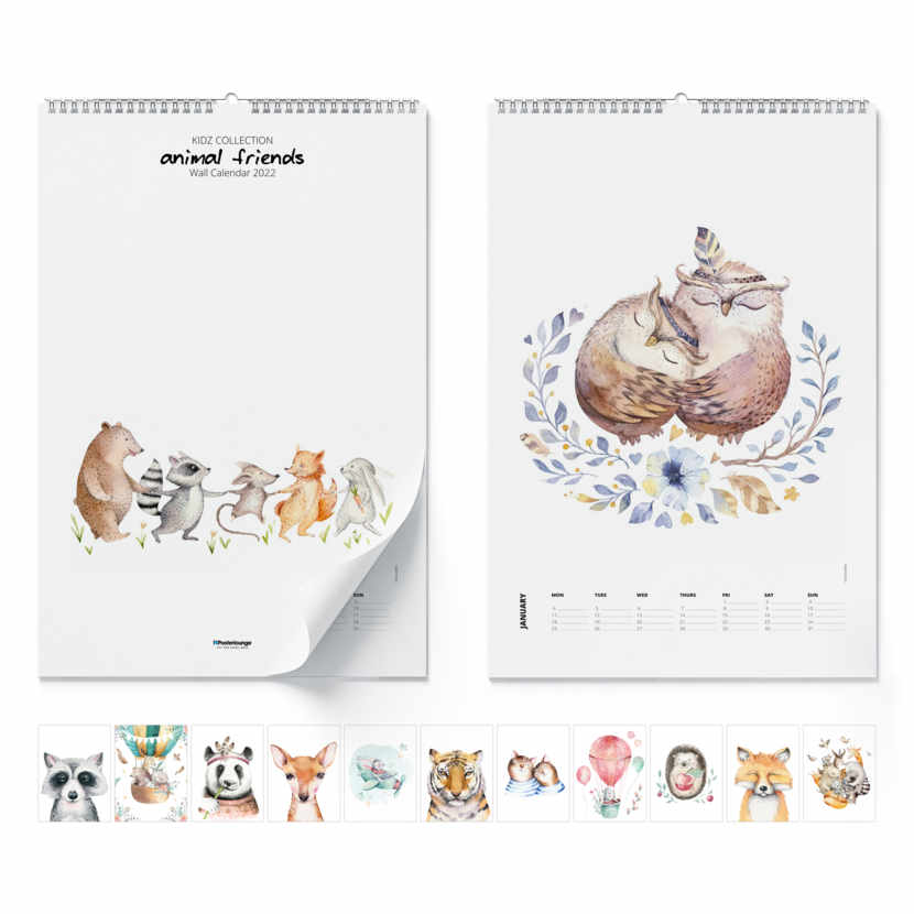 Calendario da muro Animal Friends 2020