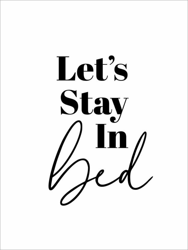 Poster Premium Let's stay in bed