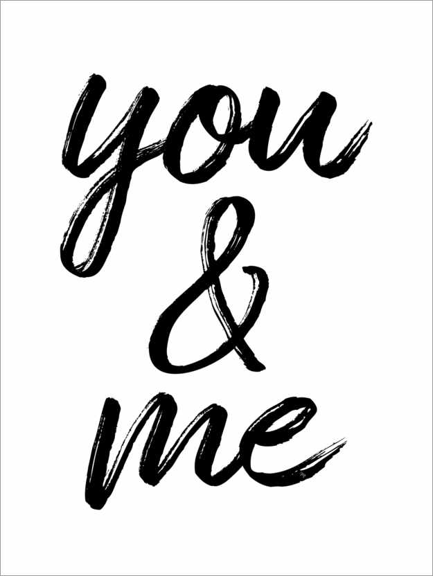 Poster Premium You and me