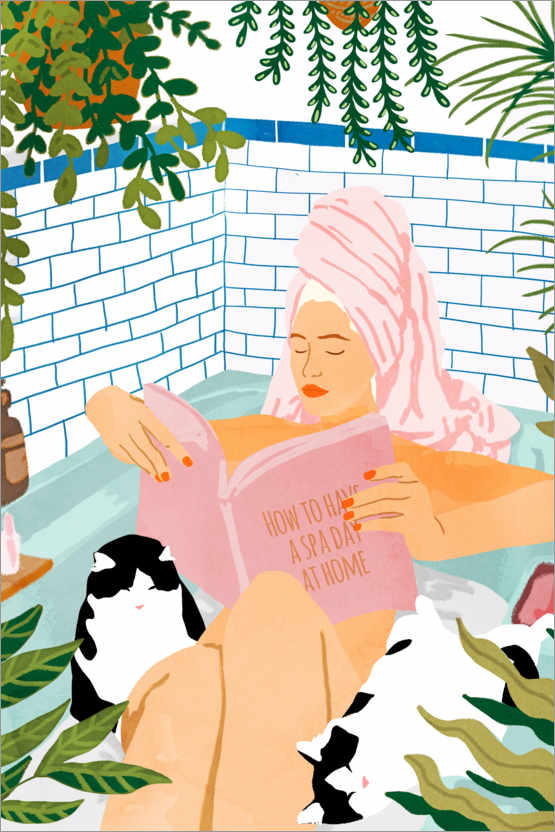 Poster Premium How To Have A Spa Day At Home