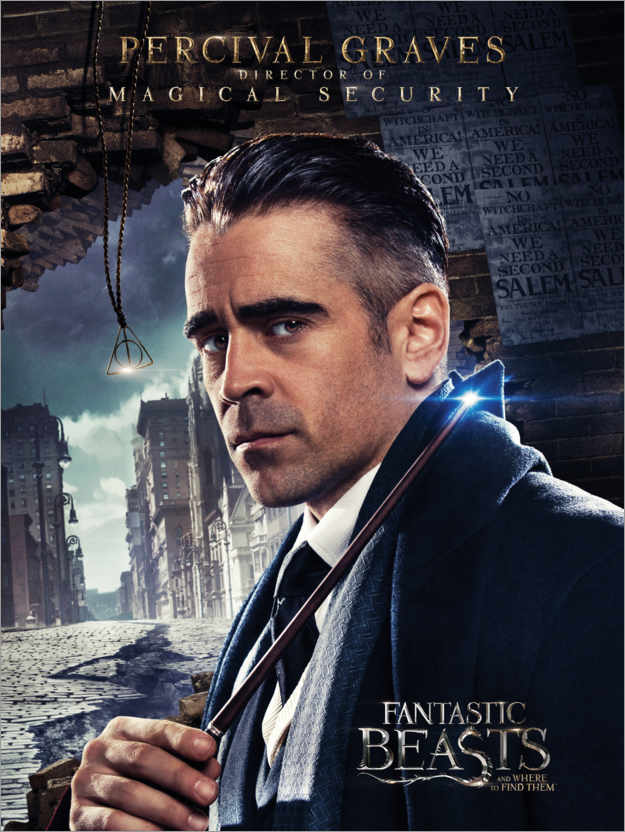 Poster Premium Fantastic Beasts and Where to Find Them - Percival Graves