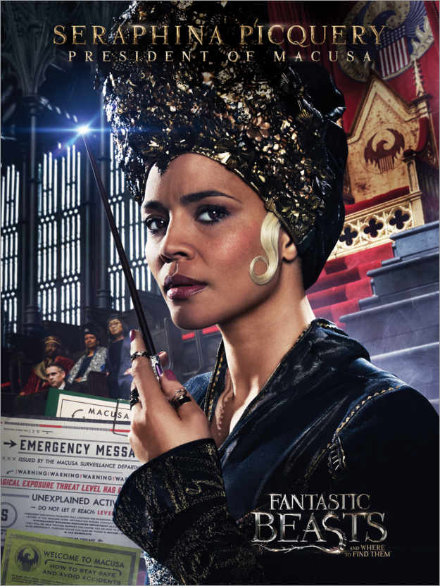Poster Premium Fantastic Beasts and Where to Find Them - Seraphina Picquery