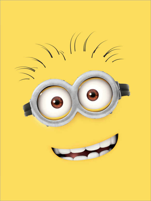 Poster Premium Silly Minion Face