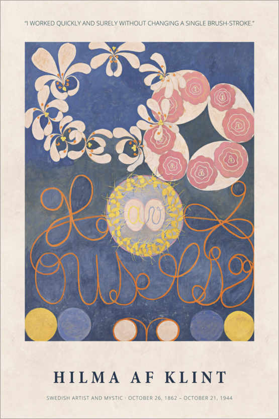 Poster Premium Hilma af Klint - Quickly and surely