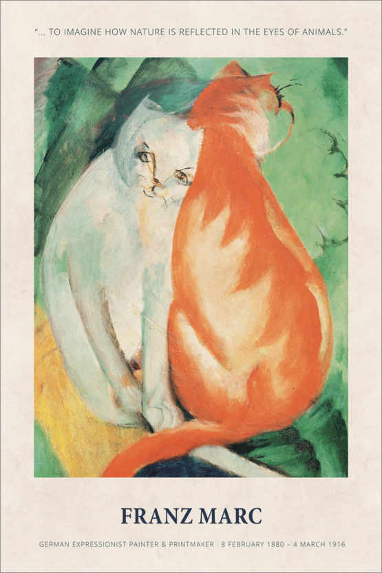 Poster Premium Franz Marc - In the eyes of animals
