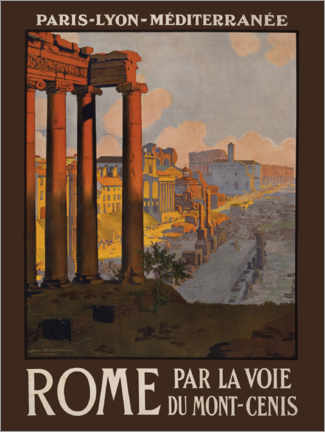 Stampa su tela  Roma (francese) - Travel Collection