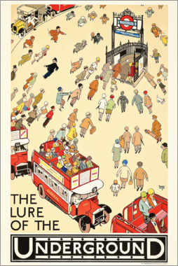 Stampa su alluminio  The Lure of the underground - Alfred Leete