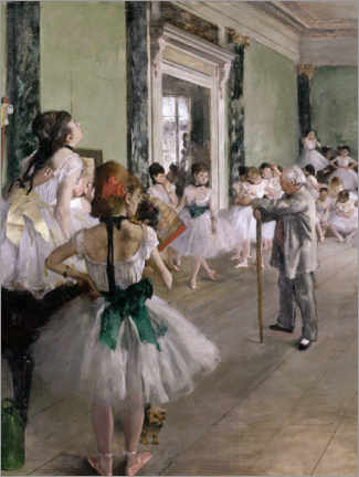 Poster Premium  The Dance Lesson - Edgar Degas