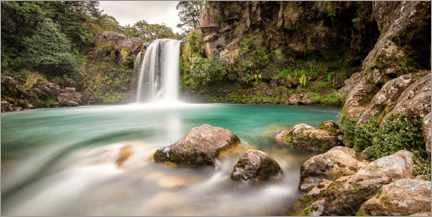 Poster Premium New Zealand waterfall