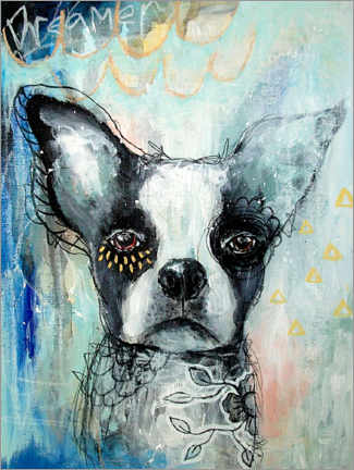 Poster Premium Little Dreamer - Boston Terrier