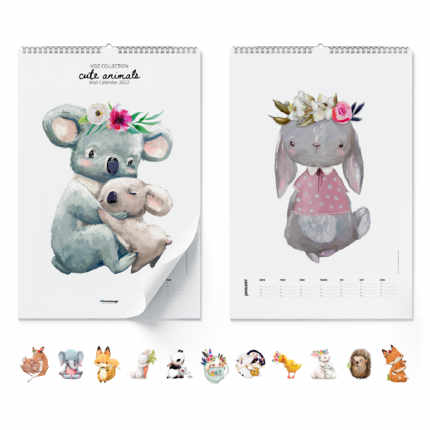 Calendario da muro  Cute Animals 2020
