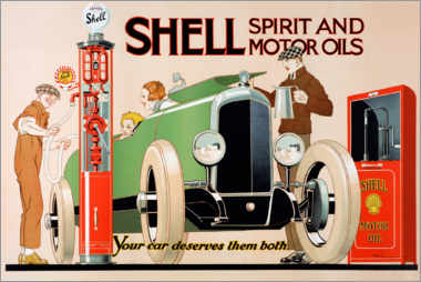 Stampa su alluminio  Shell, spirit and motor oils - Rene Vincent