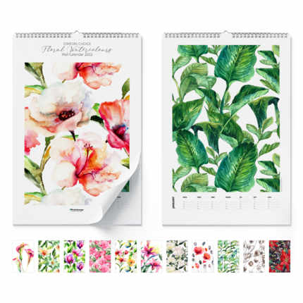 Calendario da muro  Floral Watercolours 2020
