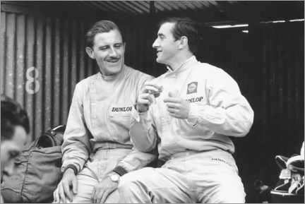 Poster Premium Graham Hill and Jackie Stewart, French GP, 1965