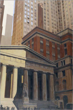 Poster Premium Federal Hall, Wall Street