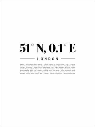 Poster Premium  Coordinate - Londra (inglese) - Finlay and Noa