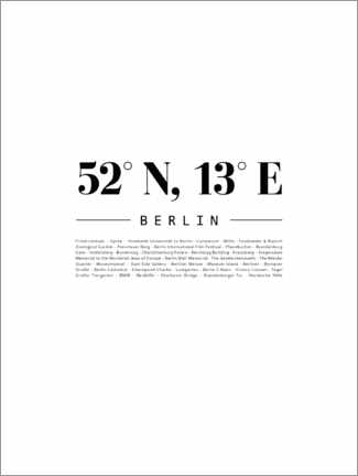 Poster Premium  Coordinate - Berlino - Finlay and Noa