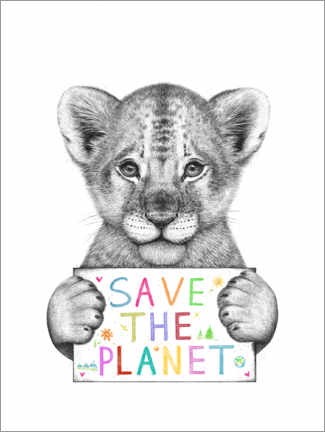 Stampa su vetro acrilico  Save the planet - Valeriya Korenkova