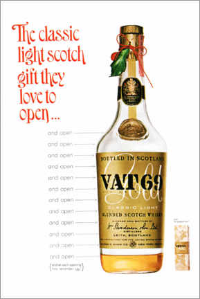 Stampa su tela  Vat 69 - Advertising Collection