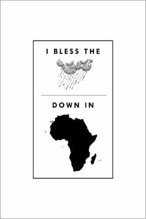 Stampa su tela  I bless the rains down in africa - Typobox