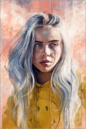 Poster Premium  Billie Eilish - Dmitry Belov
