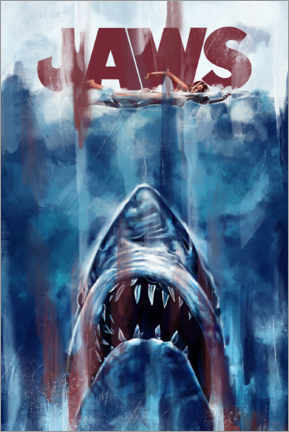 Poster Premium  Jaws (Lo squalo) - Dmitry Belov