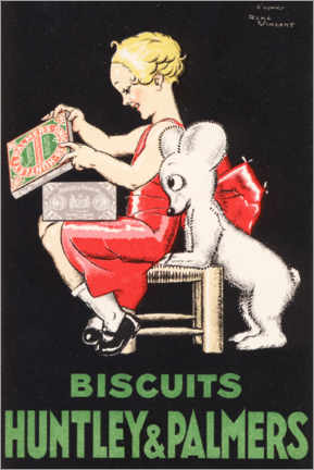 Poster Premium Biscuits Huntley & Palmers