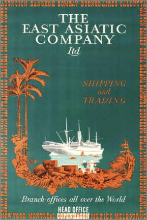 Poster Premium  The East Asiatic Company - Travel Collection