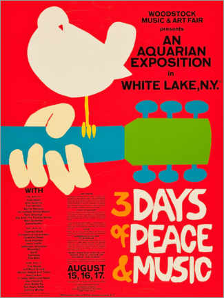 Poster Premium  Woodstock Festival - Entertainment Collection